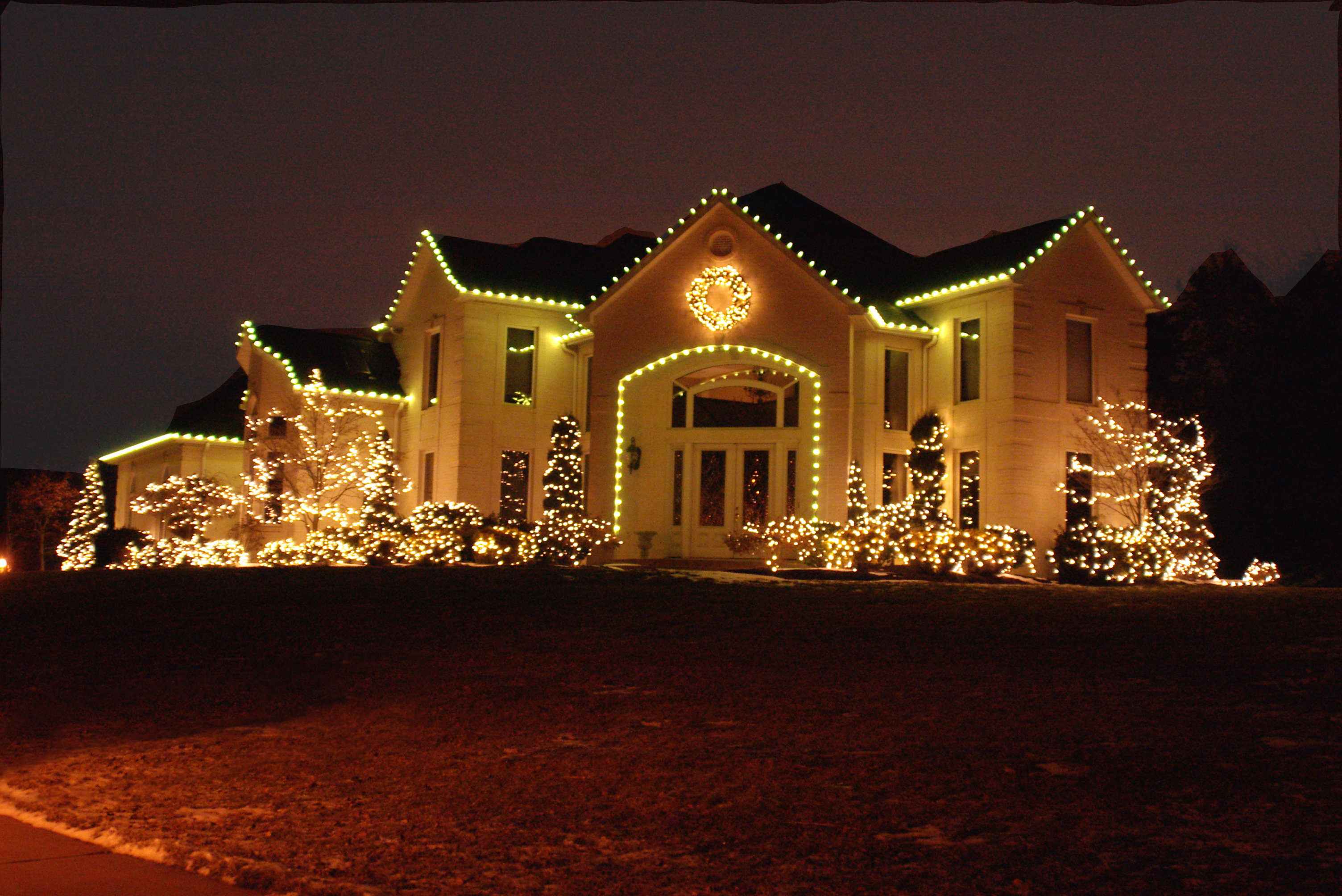 c9 are the larger type bulbs on a string and offer a very traditional christmas time look - Christmas Lights Chattanooga